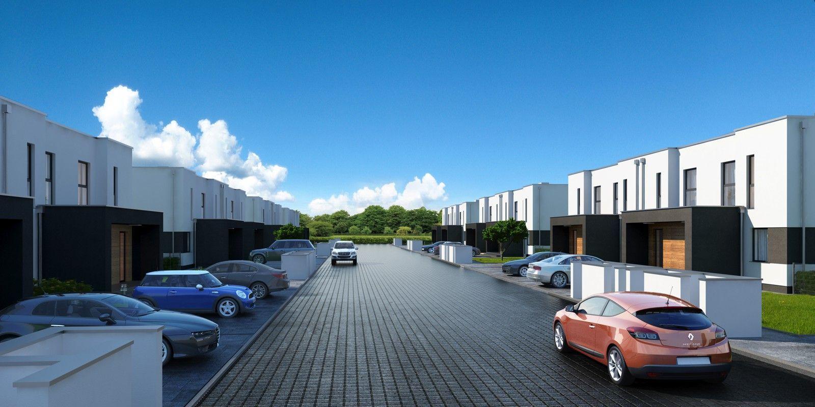 osiedlowa ulica - wizualizacja